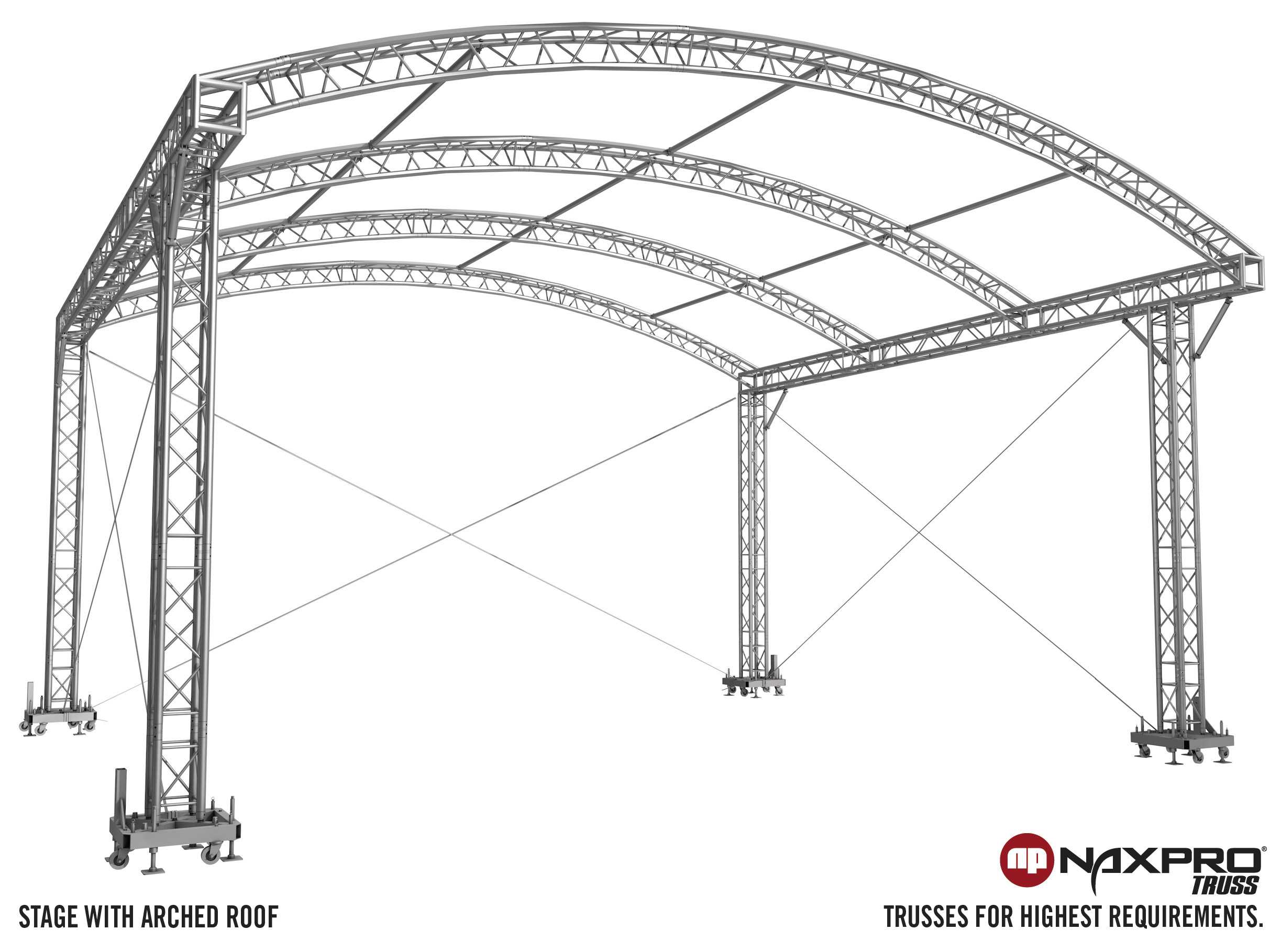 Stages With Arched Roof Naxpro Truss