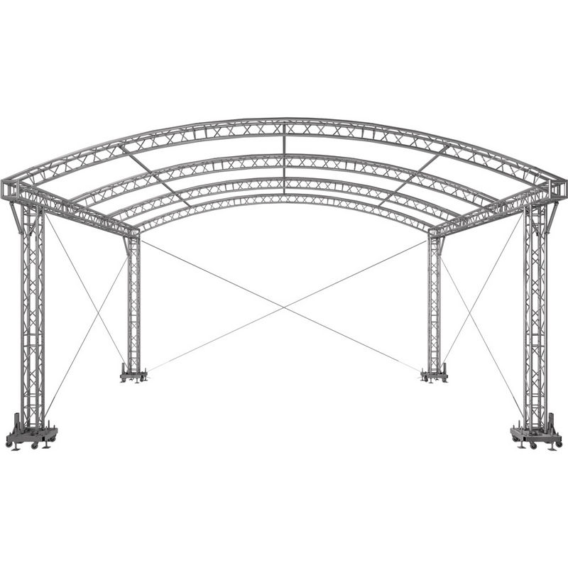 Stages with arched roof - Naxpro Truss