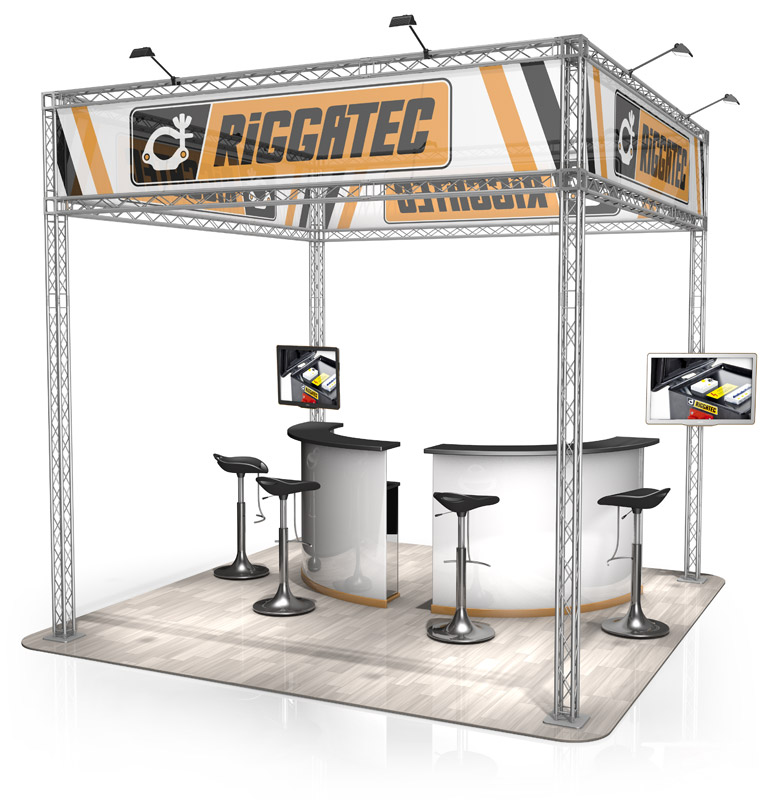 Exhibition stands naxpro truss for Construction stand